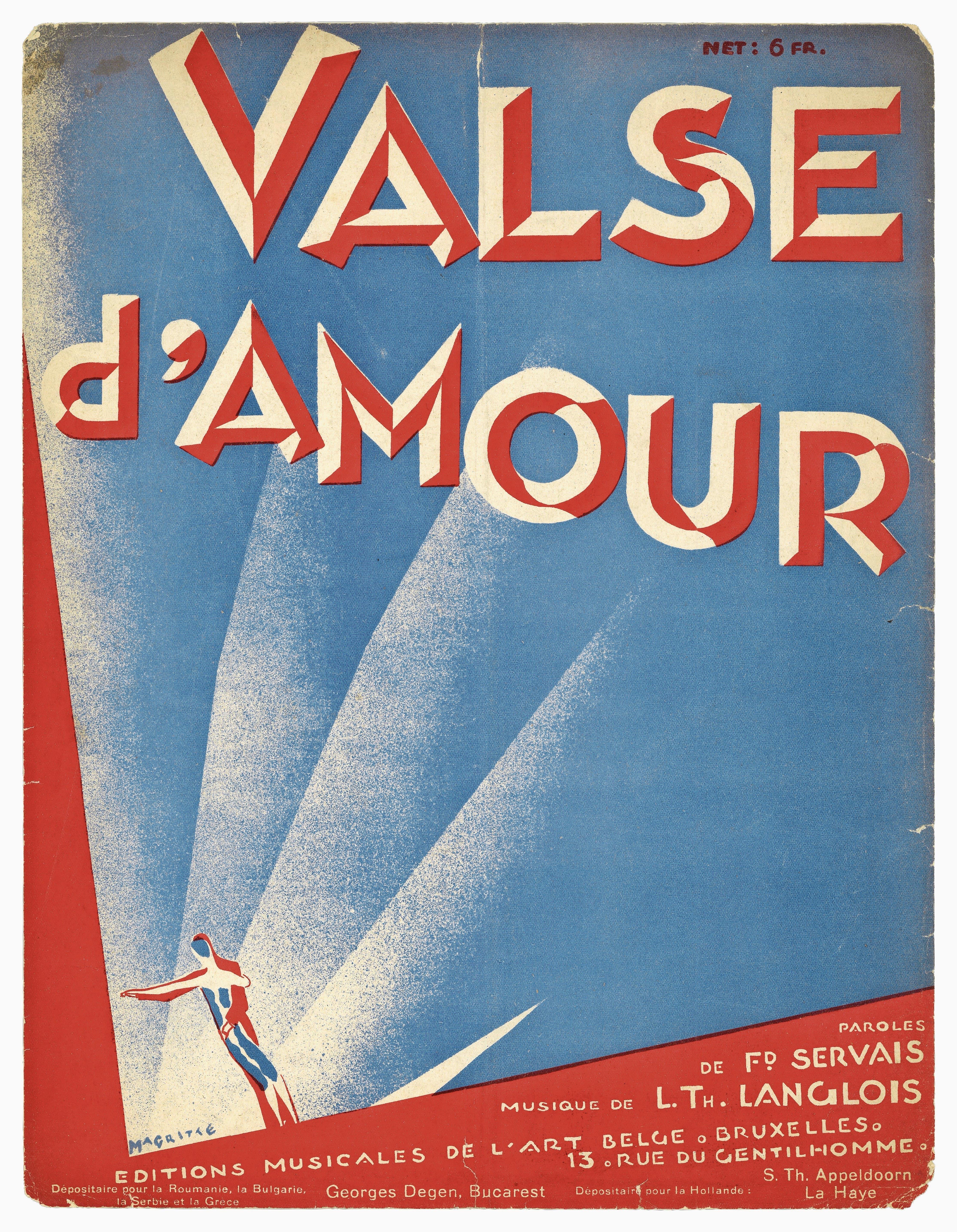 René Magritte gestaltete das Notenblatt eines Stücks der Langlois-Brüder. (1926) (Bilder: PD)