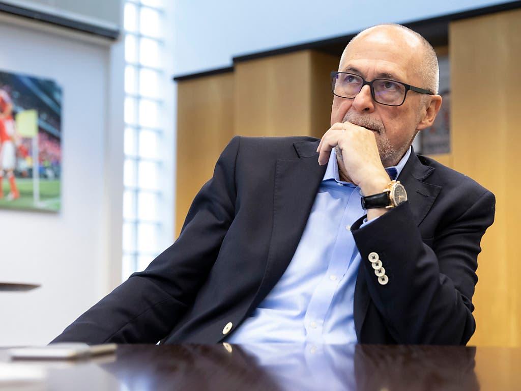 Wer wird am Samstag als Nachfolger von SFV-Präsident Peter Gillieron gewählt? (Bild: KEYSTONE/PETER KLAUNZER)