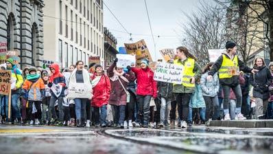 Klimastreikim März in Frauenfeld. (Bild: Andrea Stalder)