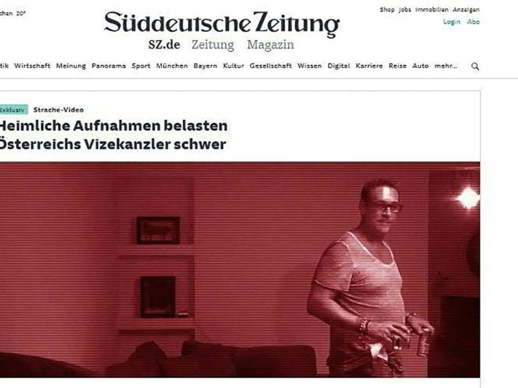 Deutsche Medien haben am Freitag ein Video veröffentlicht, das den österreichischen Vizekanzler Heinz-Christian Strache (FPÖ) in Korruptionsvorwürfen schwer belasten soll. Seine Partei wies die Anschuldigungen zurück. (Screenshot) (Bild: KEYSTONE/APA/SÜDDEUTSCHE ZEITUNG/SCREENSHOT)