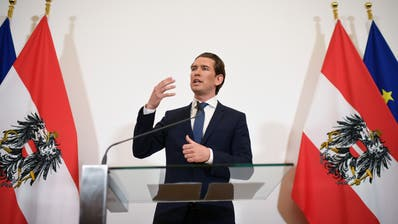 Kanzler Sebastian Kurz kündigt am Samstagabend Neuwahlen in Österreich an. (Bild: EPA/CHRISTIAN BRUNA, 18. Mai 2019)