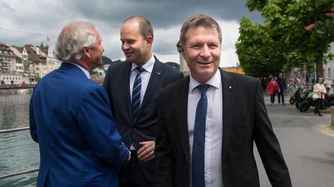Der gewählte Regierungsrat Marcel Schwerzmann. (Bild: Eveline Beerkircher)