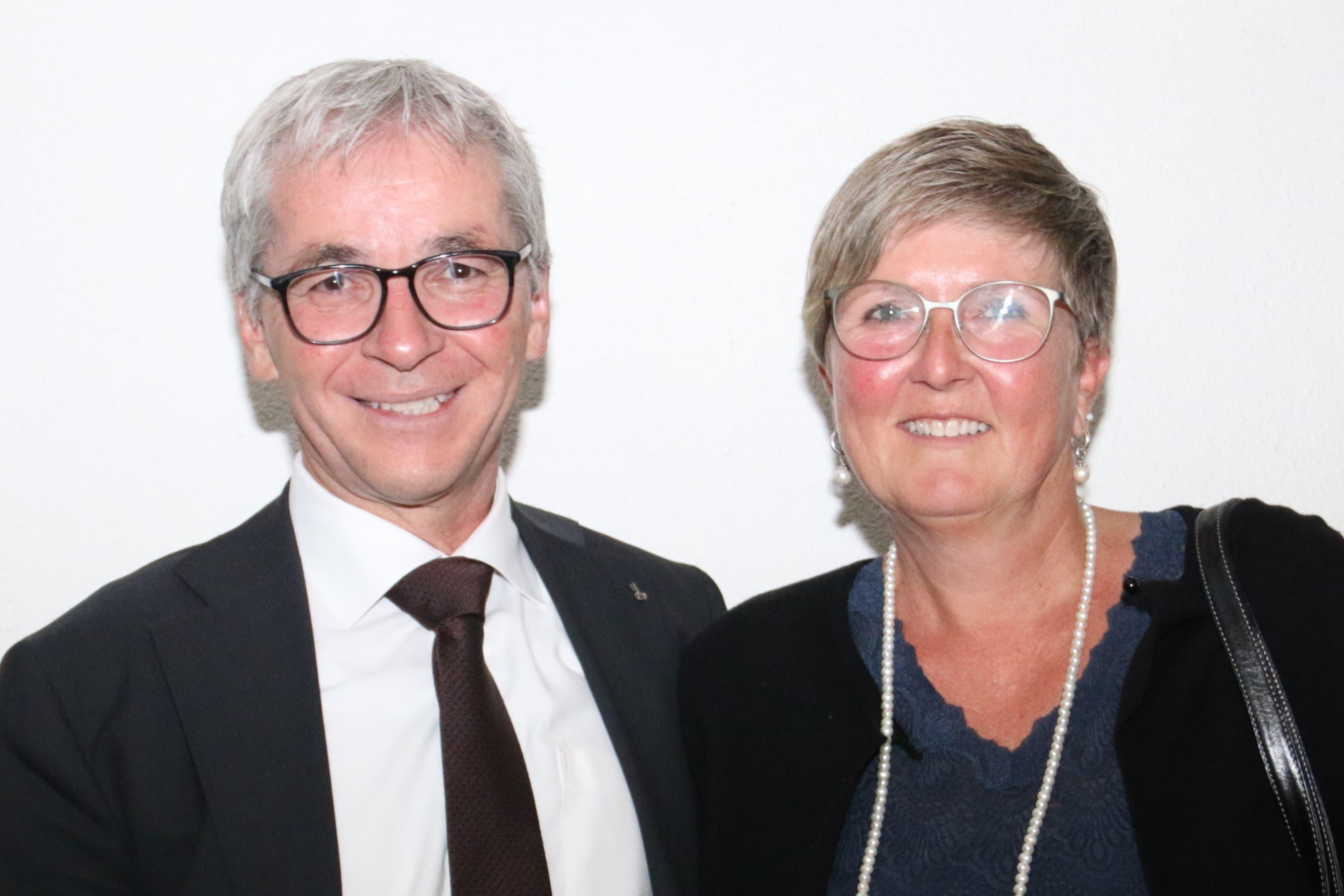 Ständerat Erich Ettlin mit seiner Frau Flavia. (Bild: Patricia Helfenstein-Burch, Sarnen, 18. Mai 2019)