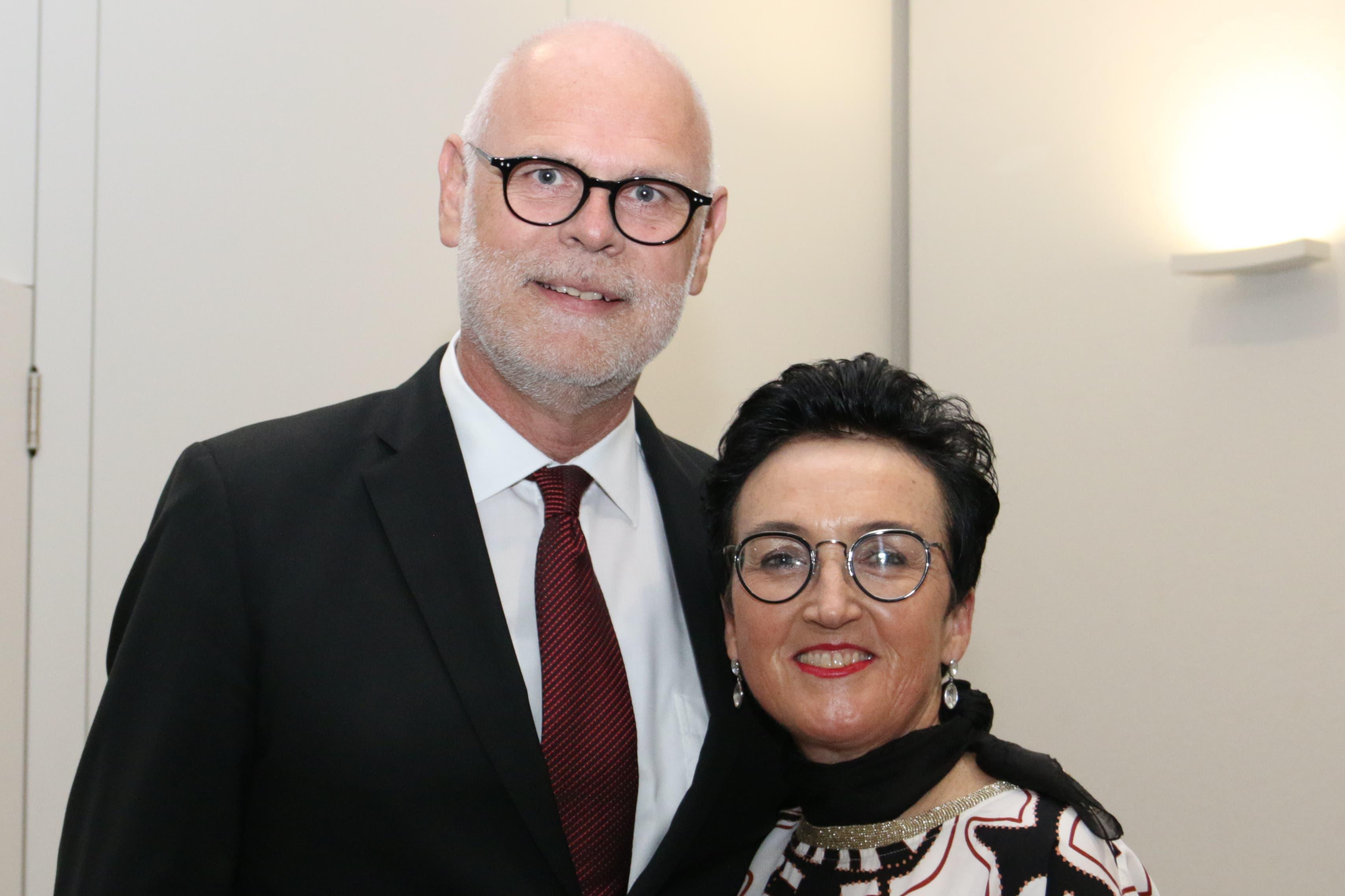 Josef und Klara Inderbitzin vom Hotel Krone in Sarnen. (Bild: Patricia Helfenstein-Burch, Sarnen, 18. Mai 2019)