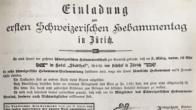 Gründungsmitglieder des Schweizerischen Hebammenverbands.(Bild: Archiv SHV)