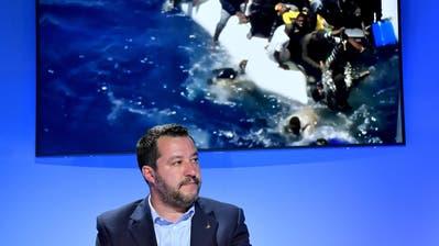 Matteo Salviniin Rom. (Bild: EPA/Ettore Ferrari, 20 Mai 2019)