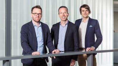 Die Chefredaktion von CH Media mit Roman Schenkel, Patrik Müller und Raffael Schuppisser.
