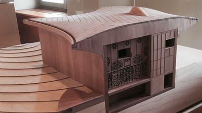 Das Modell zeigt, wie das Klanghaus aussehen könnte. (Bild: Martin Knoepfel)