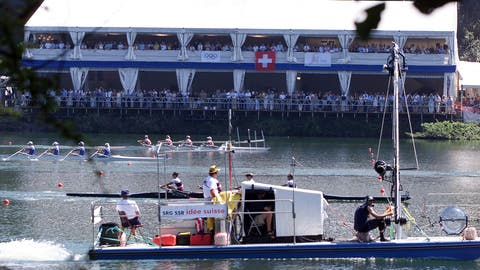 Ein Bild aus früheren Tagen: Die Haupttribüne während der Ruder-WM 2001. (Bild: Michael Würtenberg (Luzern, 26. August 2001))