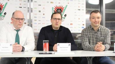 Ende Januar stellte sich die neue Führung des EC Wil vor: Präsident Roger Dietschweiler (Mitte), Marketingchef Daniel Knecht (rechts) und das bisherige Vorstandsmitglied Peter Wittwer (links). (Bild: Tim Frei)