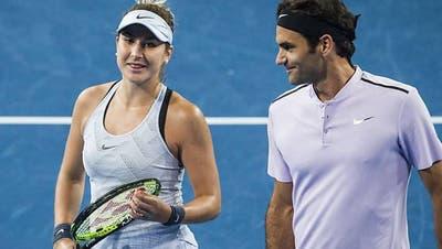 Belinda Bencic sagt, sie profitiere von der Erfahrung Roger Federers. (Bild: Keystone)