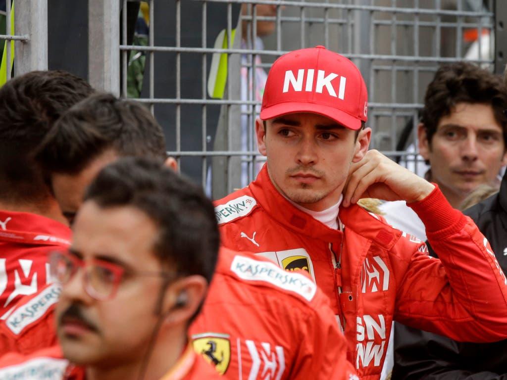 Ausgerechnet der gebürtige Monegasse Charles Leclerc war der grosse Verlierer im Grand Prix von Monaco (Bild: KEYSTONE/AP/LUCA BRUNO)
