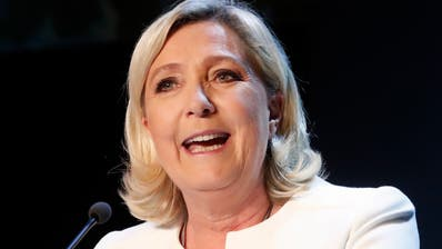 Marine Le Pen Parteichefin Rassemblement National. (AP Photo/Thibault Camus)