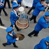 Parademusik am Luzerner Kantonal-Musiktag, hier vorgetragen von der Feldmusik Nebikon. (Bild: Pius Amrein, Wauwil, 31. Mai 2014)