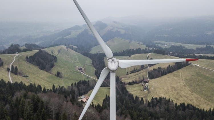 Die grössten Windräder der Schweiz könnten bald auf dem Lindenberg bei Hitzkirch stehen