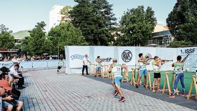 Kommenden Mittwoch bringen die Schützengesellschaften Bettwiesen und Tobel die junge Sportart Target Sprint – hier an der Weltmeisterschaft 2017 im deutschen Suhl – erstmals in den Hinterthurgau. (Bild: PD/ Christoph Petermann, SSV)