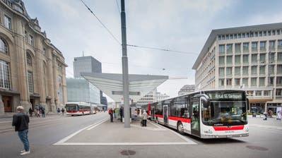 Die Verkehrsbetriebe St.Gallen haben 2018 25,3 Millionen Fahrgäste transportiert. Das ist knapp ein Prozent mehr als im Vorjahr. (Bild: Urs Bucher, 13. April 2019)