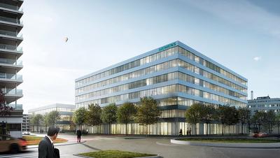 Illustration des neuen Siemens-Campus beim Bahnhof Zug. (Bild: PD)