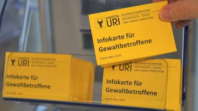 Kanton Uri klärt über häusliche Gewalt auf