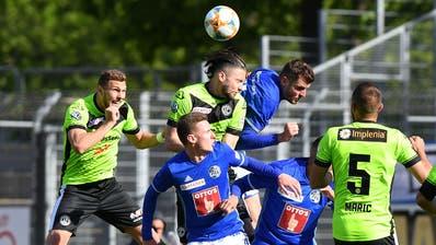 Die Luzerner verlieren im Tessin 0:1 und verpassen so die Chance, den 3. Tabellenplatz zu erobern. Im Folgenden sehen Sie die Noten der FCL-Spieler.(Bild: KEYSTONE/Ti-Press/Samuel Golay, Lugano, 5. Mai 2019)