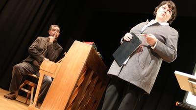 Philippe Kuhn und Patti Basler bei ihrem Auftritt in Romanshorn. (Bild: Markus Bösch)