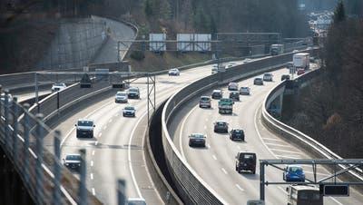 Wegen Bauarbeiten wird die St.Galler Stadtautobahn während elf Nächten gesperrt. (Archivbild: Ralph Ribi)