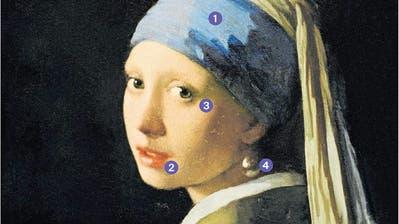 «Das Mädchen mit dem Perlenohrgehänge» im Detail