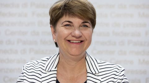 Sportministerin Viola Amherd (Bild:KEYSTONE/Peter Klaunzer)