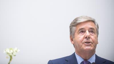 Der ehemalige Chef der Deutschen Bank, Josef Ackermann, während eines Vortrags im September vor zwei Jahren an der Universität Luzern. (Bild: Boris Bürgisser, 5. September 2017)