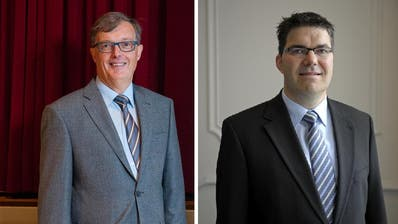 FDP-Präsident Markus Zenklusen undCVP-Wahlkampfleiter Pirmin Jung (rechts). (Bilder: Dominik Wunderli / Pius Amrein)