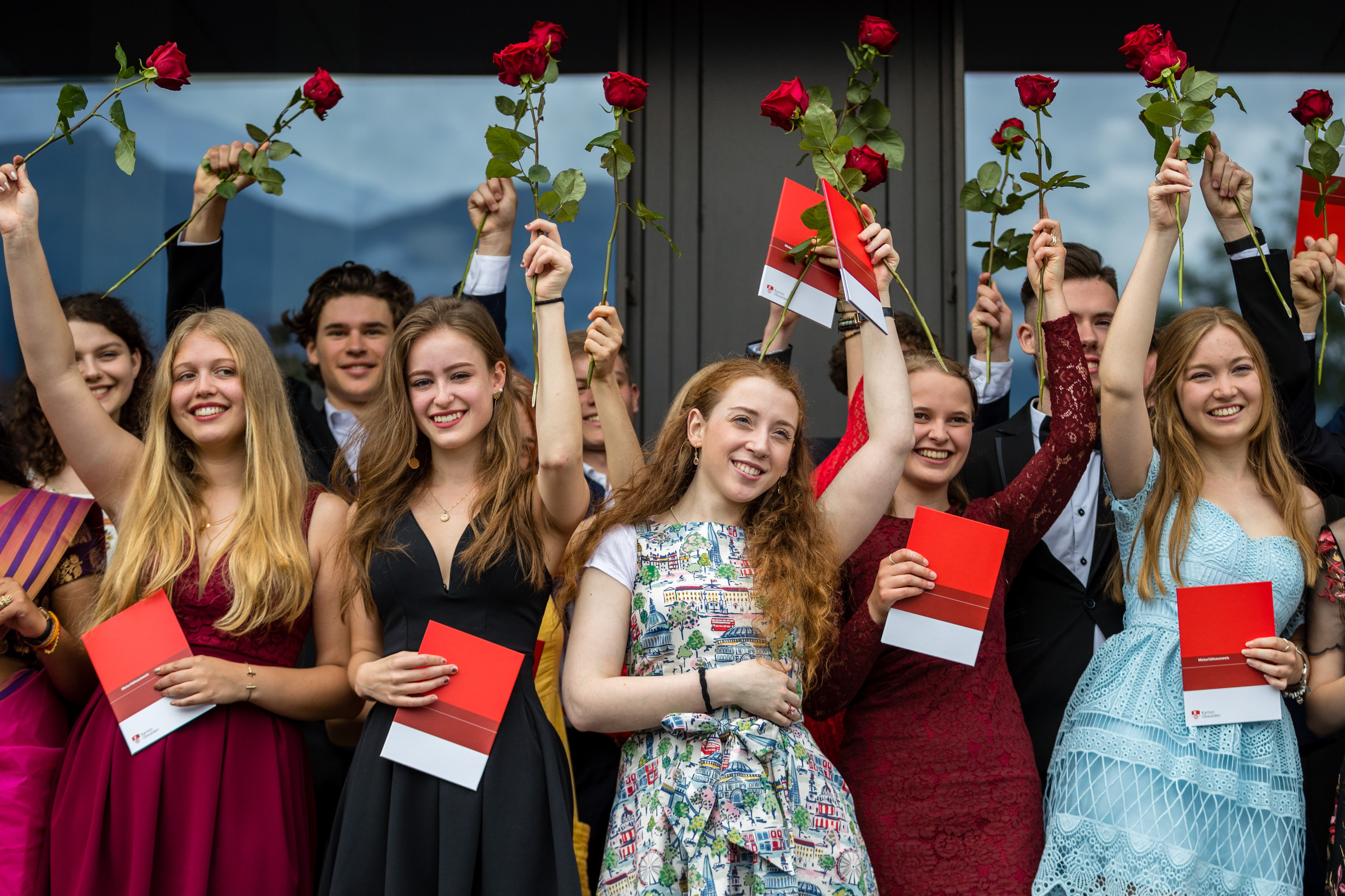 Impressionen von der Maturafeier an der Kantonsschule Obwalden. (Bilder: Philipp Schmidli, 15. Juni 2019)