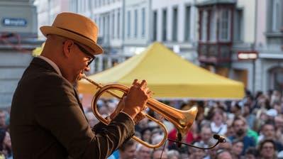 Ein Musiker am letztjährigen Festival «New Orleans meets St. Gallen». (Bild: Urs Bucher)