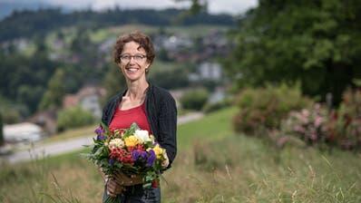 Die neu gewählte Adligenswiler Gemeinderätin Gisela Widmer. (Bild: Pius Amrein, 16. Juni 2019)