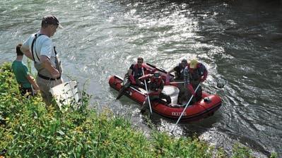 Musterstrecke für Thursanierung beim Rickenhof in Wattwil – Fische wurden vor dem Baubeginn evakuiert