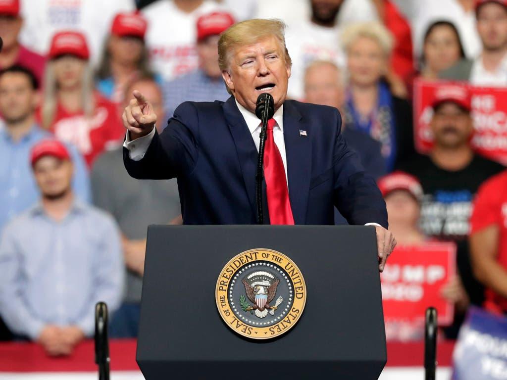 US-Präsident Donald Trump hat am Dienstagabend in Orlando den Startschuss für seinen Wahlkampf für eine Wiederwahl 2020 gegeben. (Bild: KEYSTONE/AP/JOHN RAOUX)
