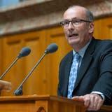Bauernpräsident Markus Ritter lehnt dieTrinkwasserinitiative ab. (KEYSTONE/Peter Klaunzer)