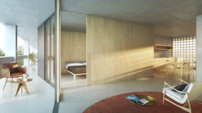So stellen sich die Architekten die neuen Alterswohnungen vor. (Bild: PD)