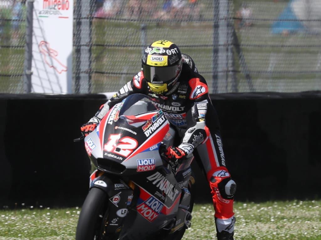 Tom Lüthi auf dem Circuit in Mugello (Bild: KEYSTONE/EPA ANSA/CLAUDIO GIOVANNINI)