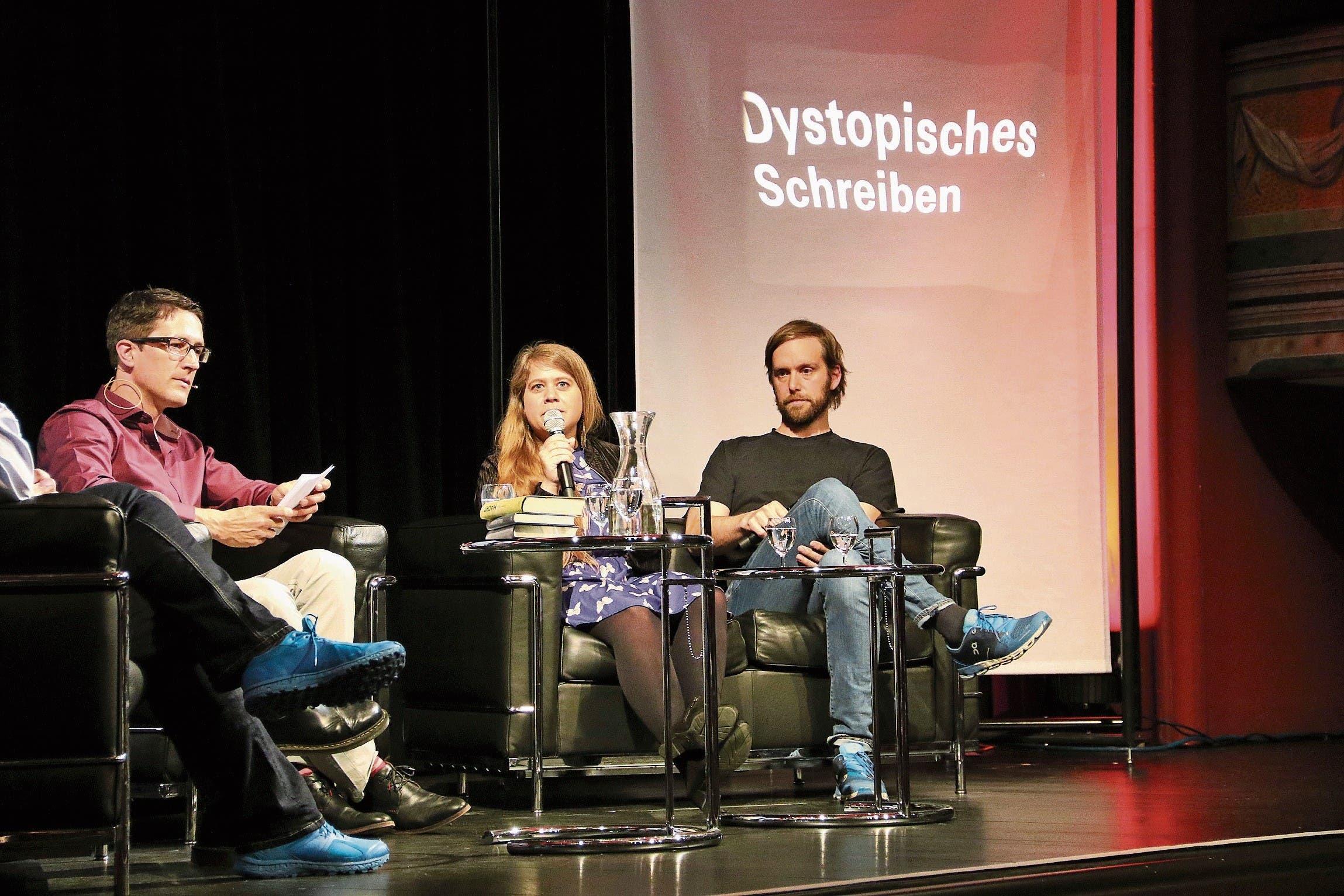 Julia von Lucadou und Heinz Helle. (Bild: Mirjam Bächtold)