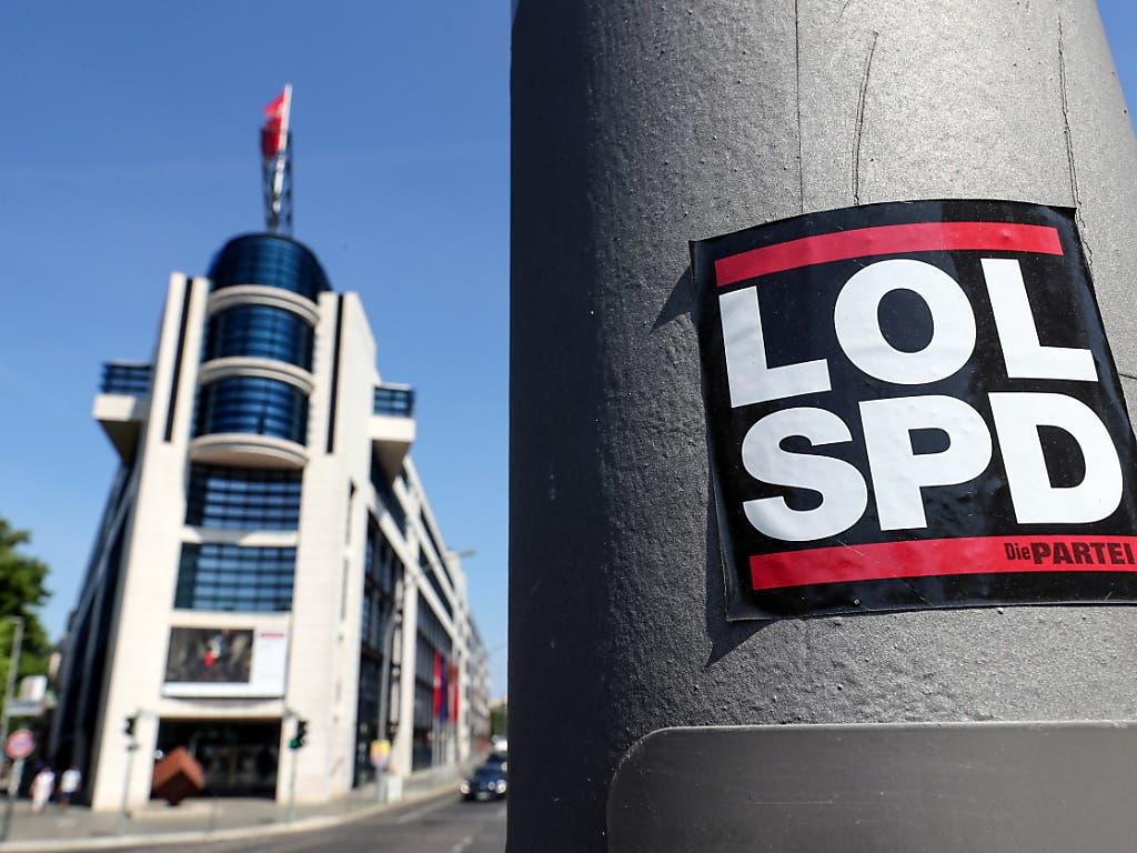 Aussenansicht des SPD-Hauptsitzes in Berlin. (Bild: KEYSTONE/EPA/FELIPE TRUEBA)