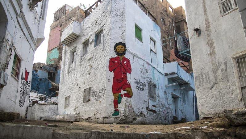 Ein Bild von Mohamed Salah an einer Häuserwand in Kairo. (Bild: EPA)