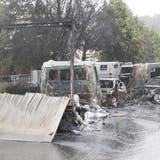 Geldtransporter bei Lausanne überfallen und abgebrannt