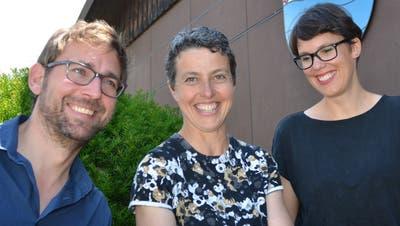 Das Leitungsteam: David Lang (Komponist, Texter), Barbara Tacchini (Regie) und Christina Schäfer (Geschäftsstelle und Gastronomie). (Bild: Margrith Pfister-Kübler)