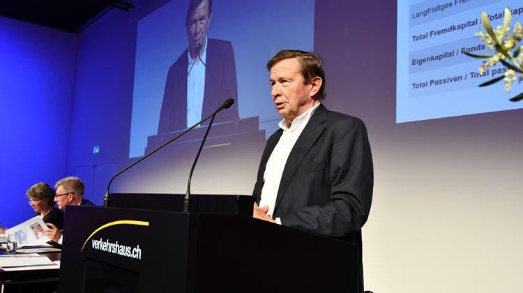 In den Vorstand wiedergewählt: Franz Steinegger an der 72. Mitgliederversammlung des Verkehrshauses der Schweiz. (Bild: PD)