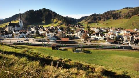 Blick auf das Dorf Escholzmatt. (Bild: Eveline Beerkircher, 25. November 2009)