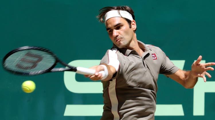 Der Schweizer Tennisstar gewinnt das Turnier in Halle zum 10. Mal (Bild: Keystone, Halle, 23. Juni 2019)