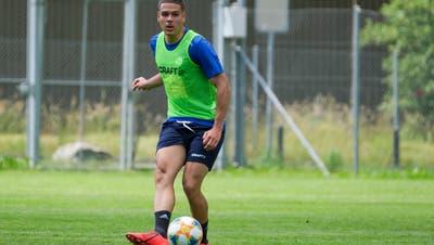 Filip Ugrinic beim Trainingsstart mit dem FC Luzern Anfang der letzten Woche. (Martin Meienberger/Freshfocus, Luzern, 17. Juni 2019)