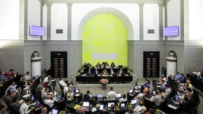 Der abtretende Regierungsrat Robert Küng wird von den Umweltorganisationen verabschiedet. (Bild: Nadia Schärli)
