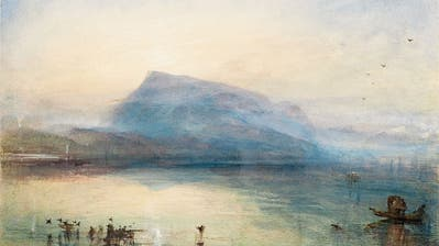 Schwebender Berg: Aquarell von J.M.W. Turner, «The Blue Rigi, Sunrise», 1842. (Bild: © Tate, London, 2019)