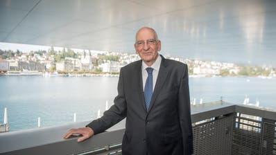 Trat mit 67 Jahren als Bundesrat zurück: Pascal Couchepin, hier 2018 am Treffen der Alt-Bundesräte in Luzern.(Bild: Key)